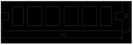 145mm x 35mm x 定尺2m